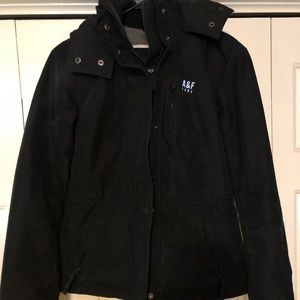 Black Abercrombie and Fitch winter jacket